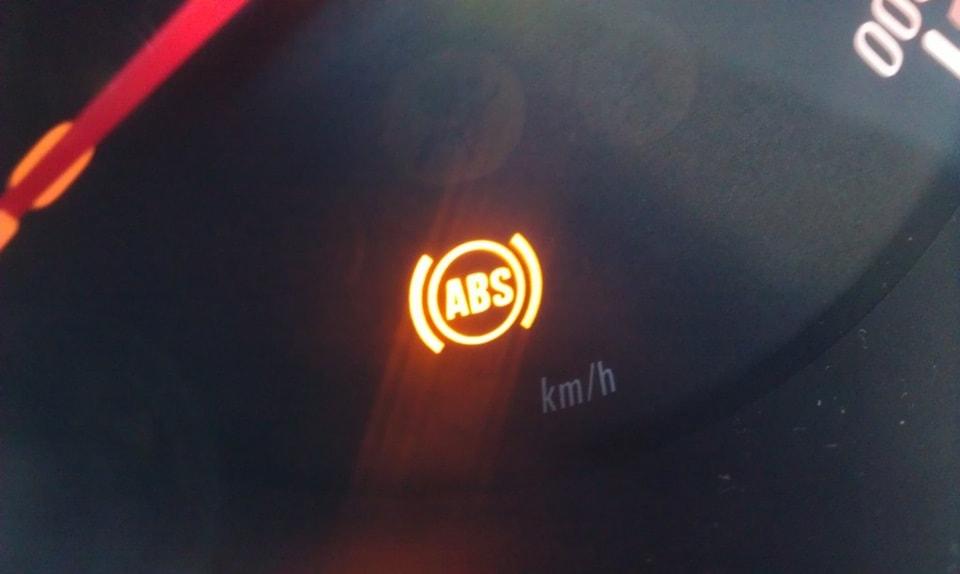 Лампа АБС на приборной панели
