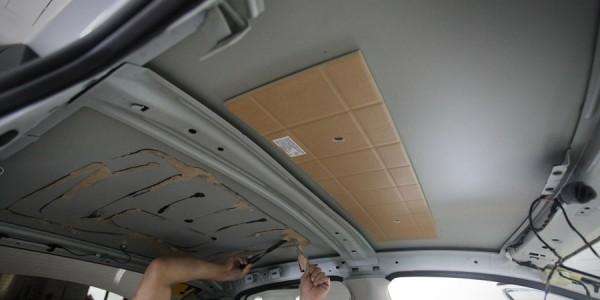 Стандартная шумоизоляция крыши Поло седан
